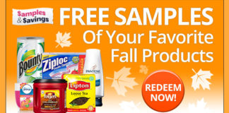Get Free Fall Beauty Samples