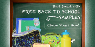 Free Back To School Product Samples