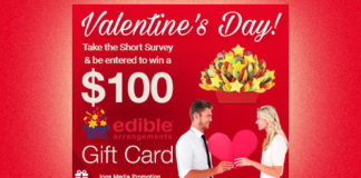 Valentine's Day! $100 Edible Arrangements Gift Card