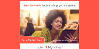 Free $10 Gift Card When You Join MyPoints