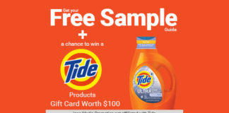 Free $100 Gift Card to Use on Tide Products