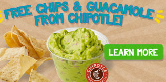 Free Chipotle Chips and Guacamole