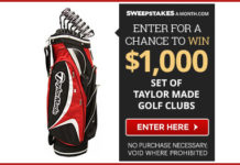 Win $1000 Set of Taylormade Golf Clubs