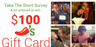 $100 Chili's Gift Card Giveaway