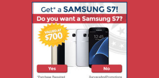 Enter for a Chance to Get a Samsung S7
