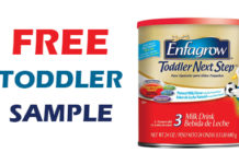 Free Sample Enfagrow Toddler Next Step
