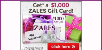$1000 in Zales Gift Cards for Mother's Day
