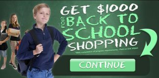 Back To School GIFT CARD Back To School Shopping