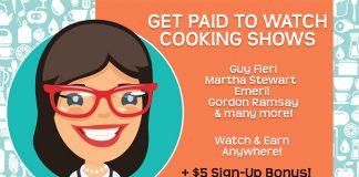 Get Paid To Watch Cooking Shows