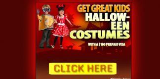 Kids Halloween Costumes with $100 Gif Card