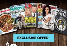 5 Magazine Subscriptions only $2.00 with Bluedolphin