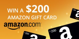 Win $200 Amazon Gift Card Amazon