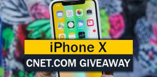 Win a Brand New Apple iPhone X from CNET.com