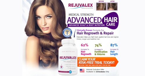 Free Bottle Rejuvalex Hair Regrowth Formula