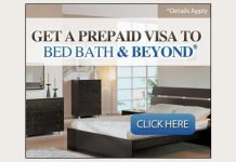 Enter for a Bed Bath & Beyond Gift Card