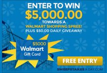 Win $5,500 Walmart Shopping Spree